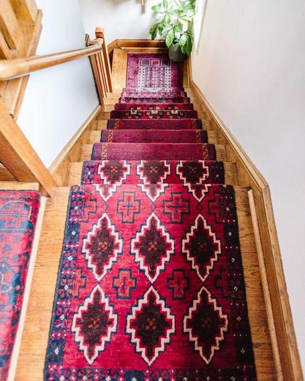 red carpet stair runner