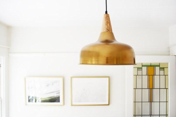 Sunroom Brass Pendant Light