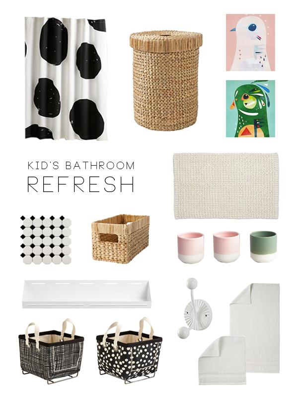 Kid's Bathroom Refresh