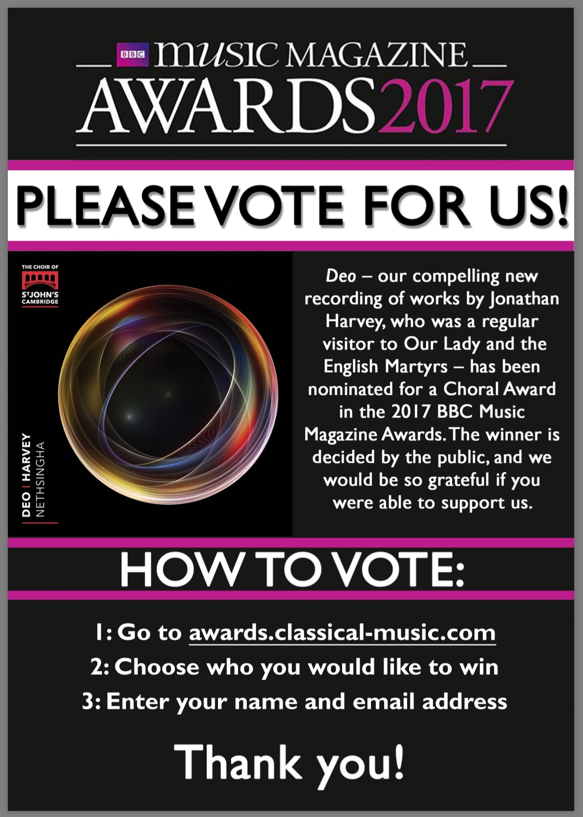 Visit awards.classical-music.com