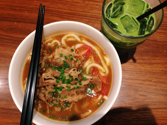 Beef Tomato Curry Udon