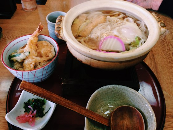 Udon with Tempura