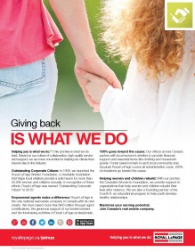 Royal LePage South Country Giving Back