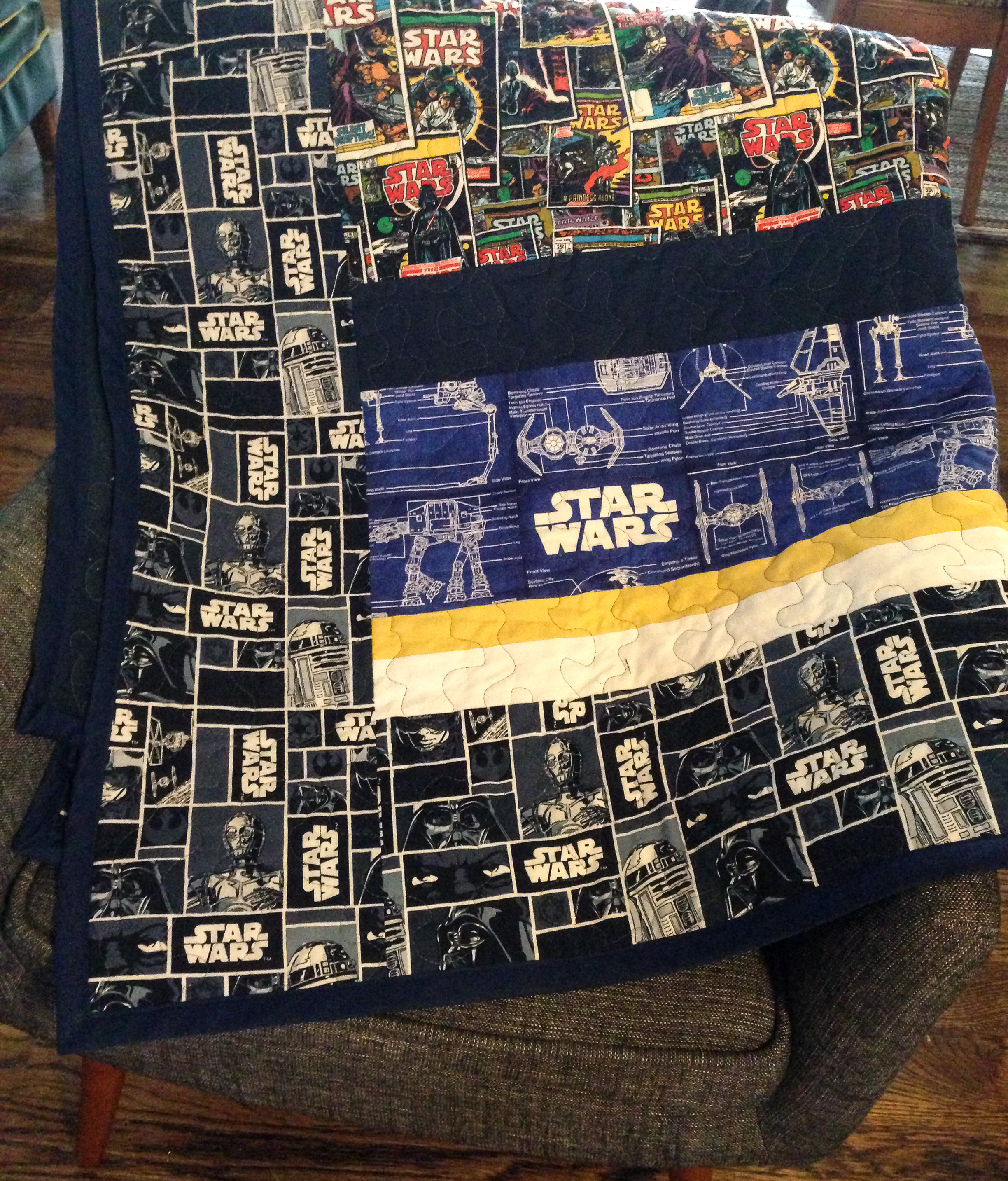 Fullsize Of Star Wars Quilt