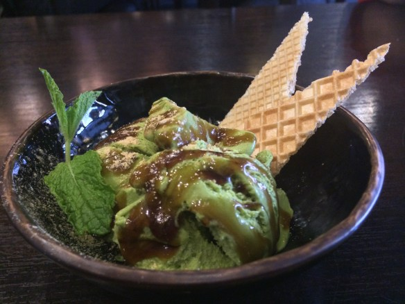 Shizuku - Green tea ice-cream.
