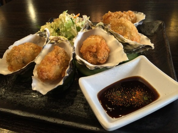 Shizuku - Hiroshima crumbed oysters.