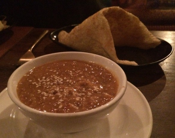 Patee Thai - Roti and Satay Sauce.
