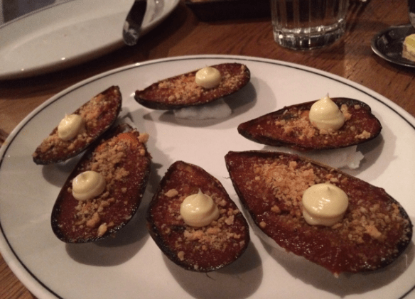 Cumulus Inc. - Baked Chilli Mussels.