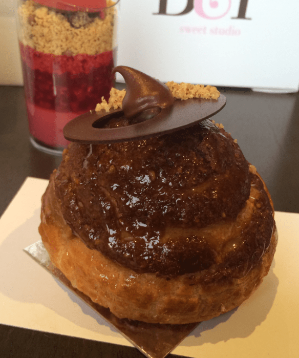Burch and Purchese - Caramel, chocolate & hazelnut choux