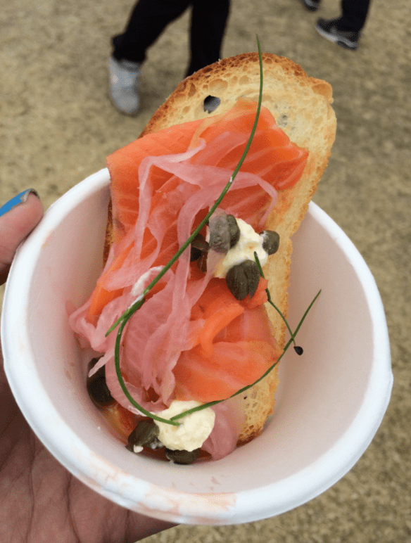 Taste of Melbourne 2014 - Huxtable's Smoked Ora King Salmon