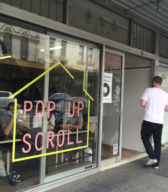Pop up scroll - Street view