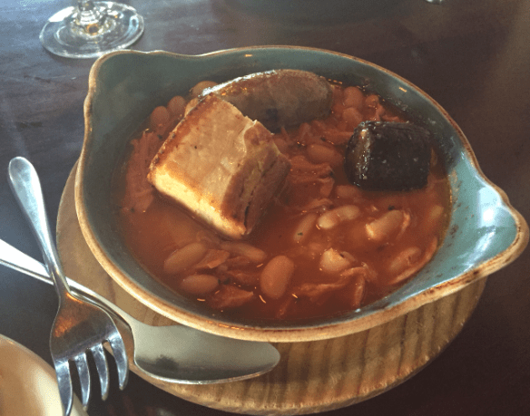 Naked for satan - Fabada (White bean stew w roast pork belly)