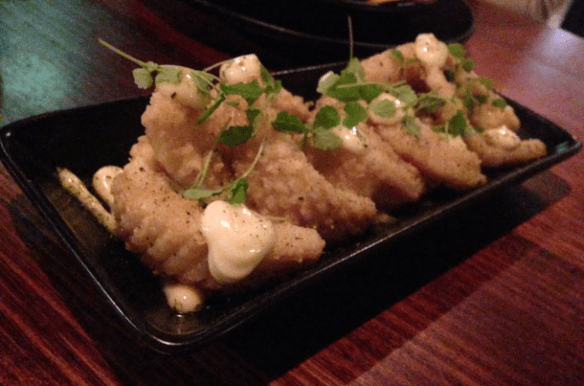 Beer Duluxe - Lemon myrtle pepper squid w lime mayo