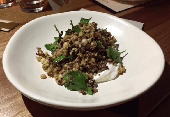 Sezar restaurant - Grain salad w labne