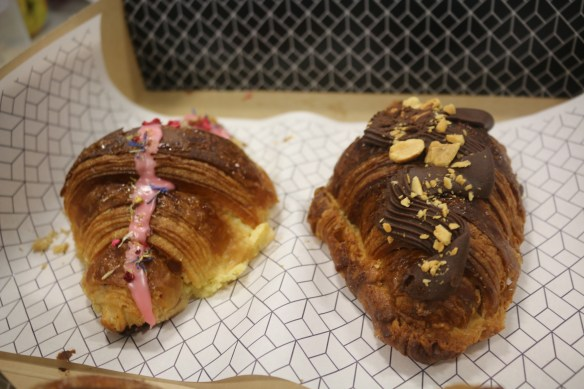 Rustica Canteen - Twice cooked Isphan croissant and choc peanut butter croissant
