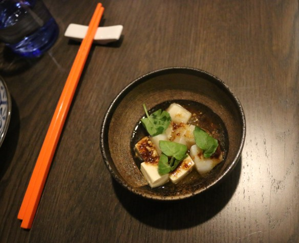 Lee Ho Fook - Scallop & silken tofu w soy butter and crispy garlic