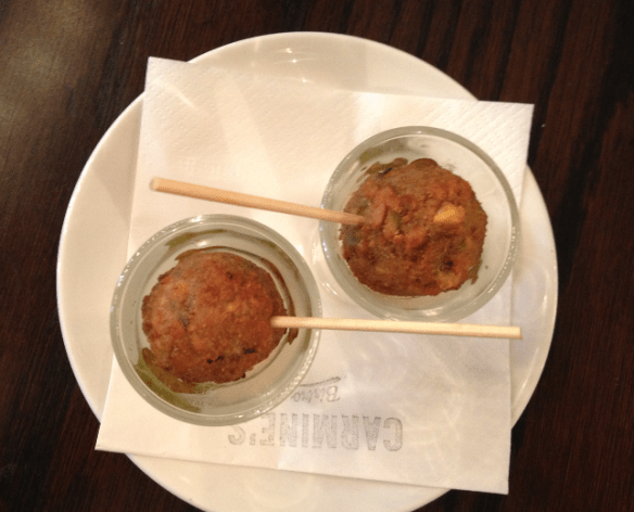 Carmines Bistro - Lamb lollipops