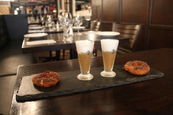Carmine's Bistro - Mushroom capaccino w onion donut