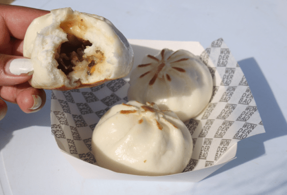 Melbourne Night Noodle Market 2015 - Wonderbao - Three mushroom, tofu and veg fried bao