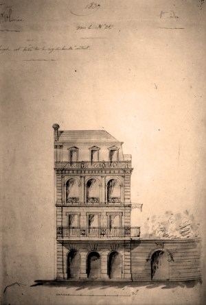 From sketchbook of Jacques-Nicolas Bussière de Pouilly