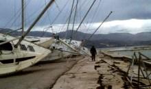 Ο εφιάλτης του Εγκέλαδου επέστρεψε στην Κεφαλονιά – Εικόνες καταστροφής (photos, video)