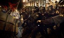 Σφοδρές οδομαχίες στη Μαδρίτη σε διαδήλωση κατά της διαφθοράς (video)