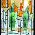 Ablak absztrakt formákkal