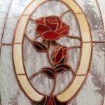 Tiffany technika - rózsa