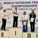 Cristina Gordet, Bronze medalist, World Veterans Fencing Championships, 2013, National Gold medalist, Veterans 50 Women's Epee, 2013 and 2014.