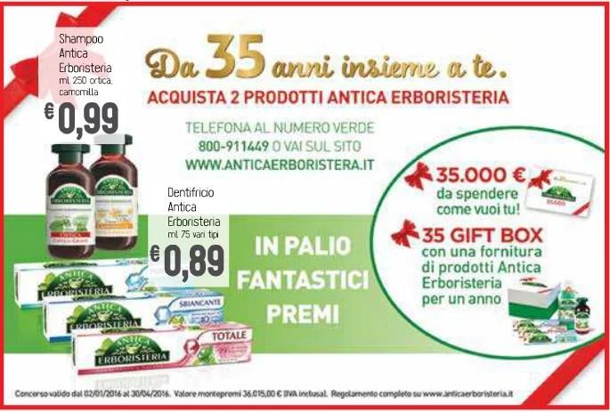 Da 35 anni insieme a te: Antica Erboristeria e il concorso che mette in palio un buono da 35000 euro