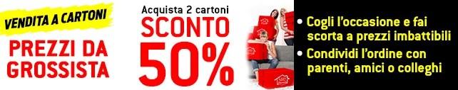 Sconto del 50% e consegna gratuita grazie alla promozione Prezzi da grossista su Casa Henkel