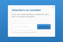 Free PSD Newsletter Subscribing PopUp