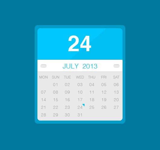 Free flat Calendar Widget