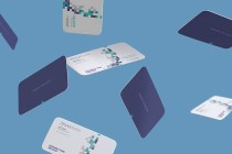 Free Gravity Business Card Mockup