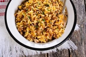 Reis mit Hackfleisch