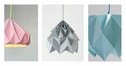 Origami Lampen falten