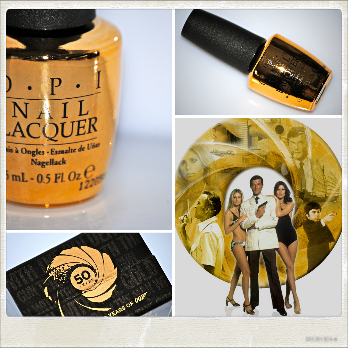 opi � �the man with the golden gun� real 18k gold top coat