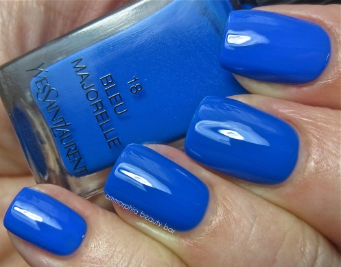 YSL Bleu Majorelle vs Essie Butler Please swatch