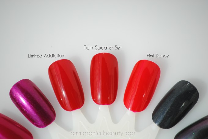 Essie Fall 2013 red comparisons