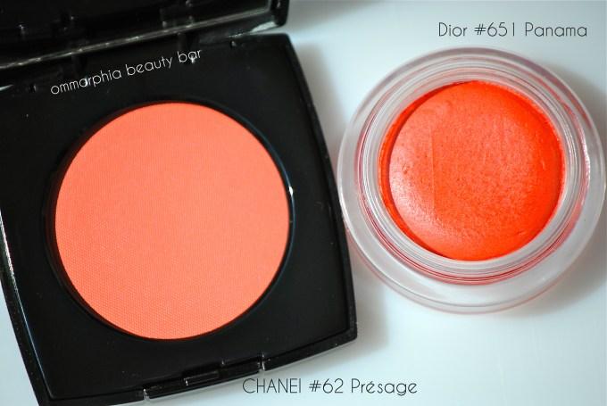 CHANEL #62 Présage vs Dior #651 Panama