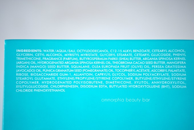 Moroccanoil Body Butter ingredients