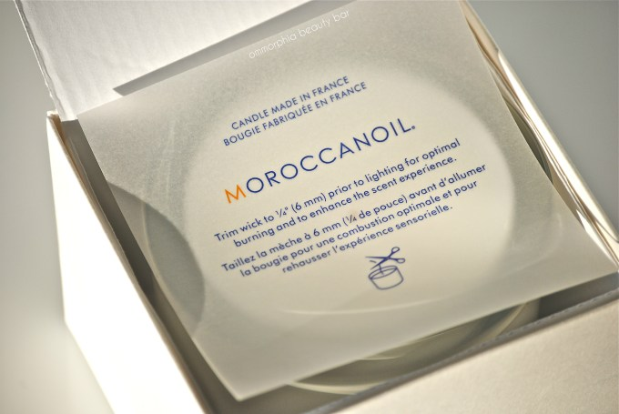 Moroccanoil Candle open box