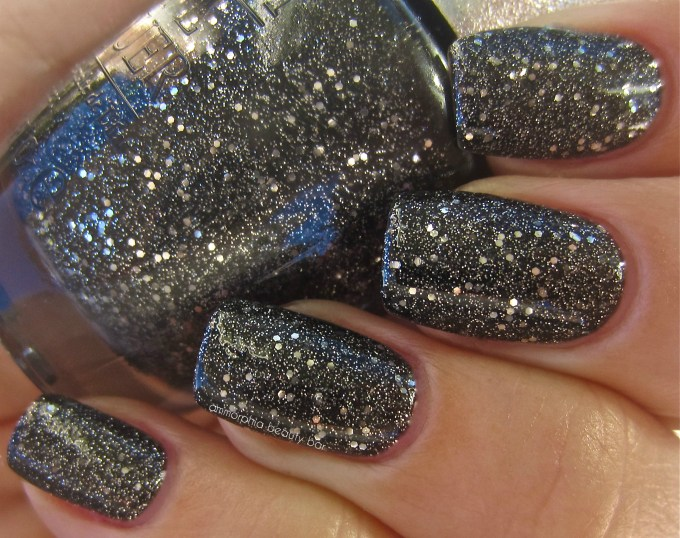 OPI DS Pewter swatch with top coat