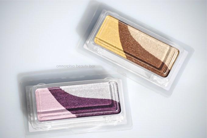 shu uemura triplecolor eye shadows packaged