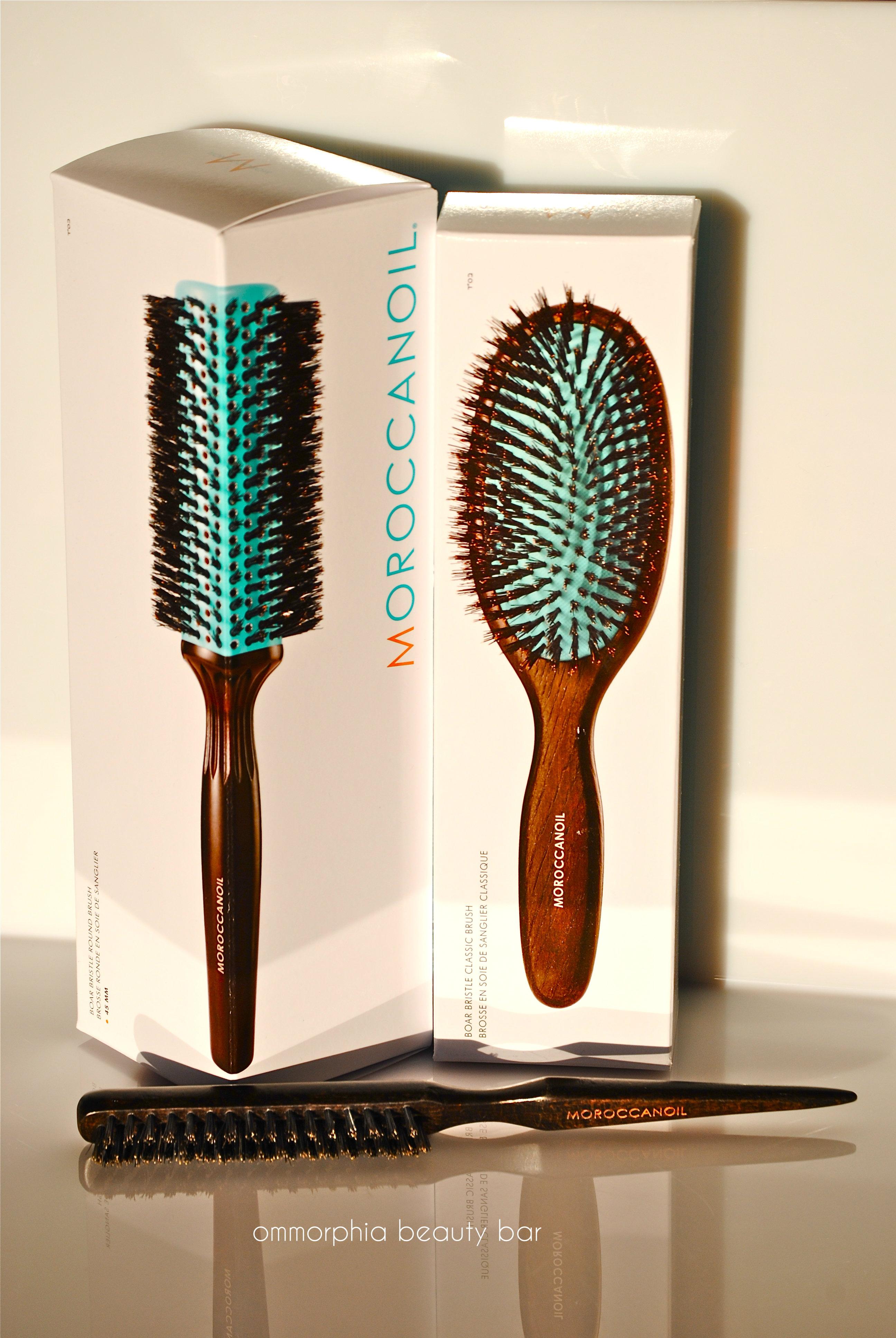 Moroccanoil hair brushes boxed