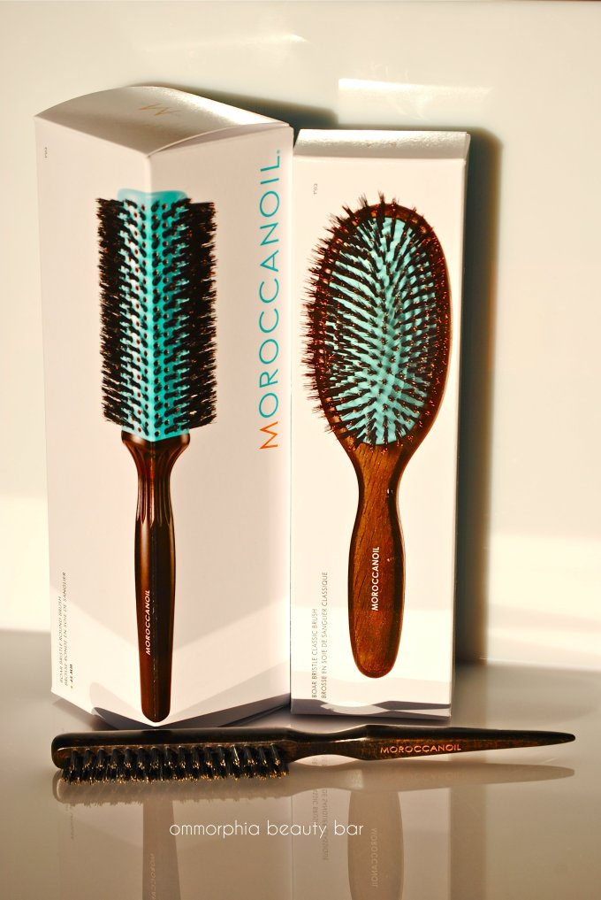 Moroccanoil hair brushes boxed