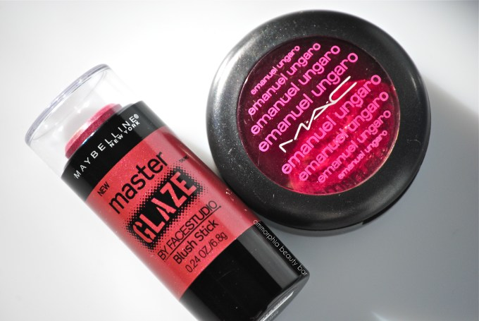 Maybelline Make a Mauve vs MAC Crushed Bougainvillea