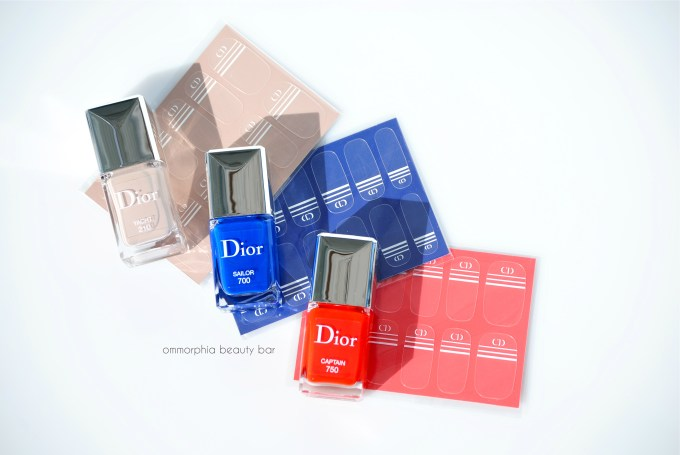 Dior Transat polish with stickers