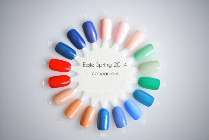 Essie Spring 2014 comparison nail wheel