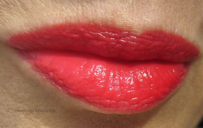 YSL Rouge Effrontee swatch lips new
